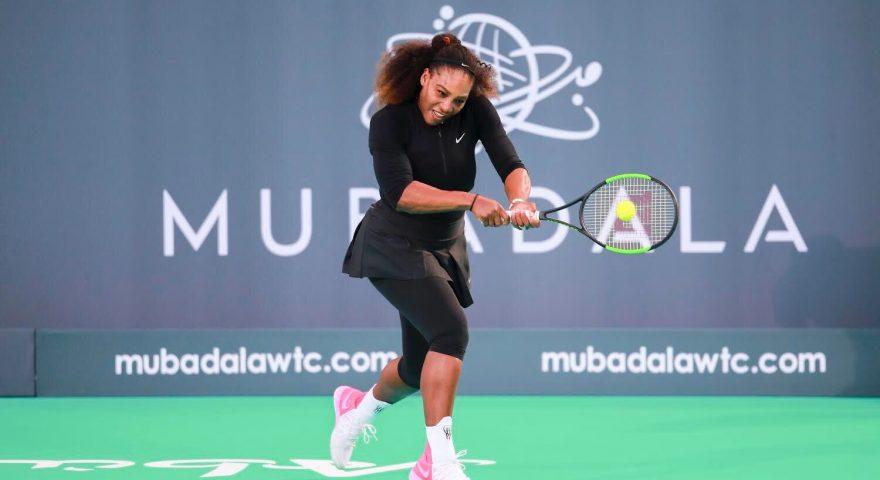 Serena Williams durante un format da casa