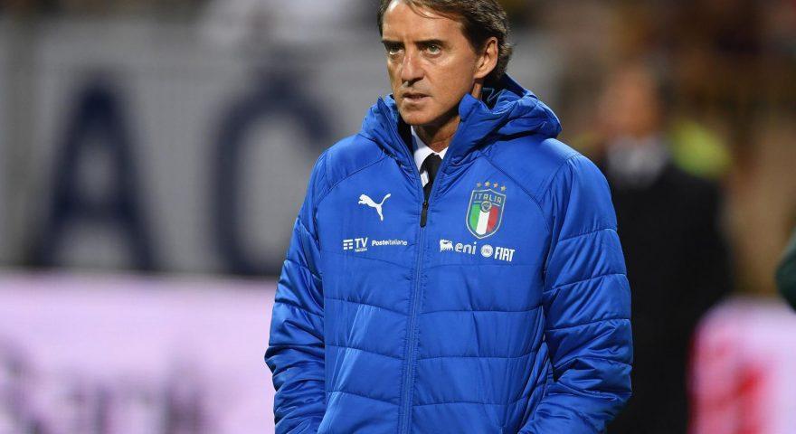 Mancini durante una gara