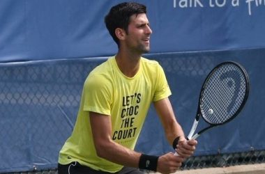 Djokovic in allenamento