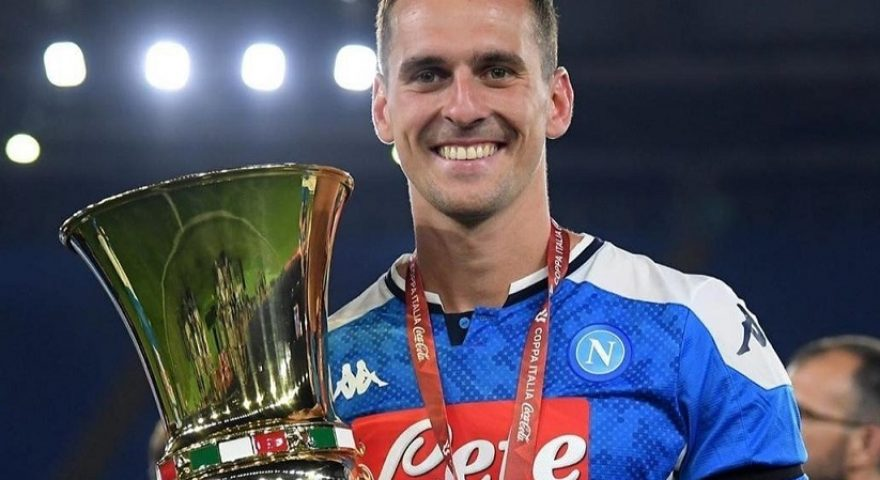 Milik con la Coppa Italia