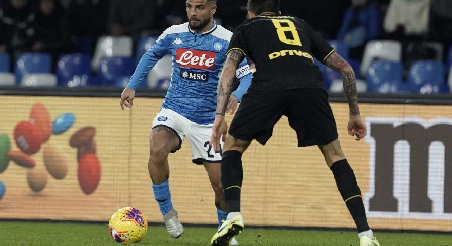 Insigne durante Napoli-Inter di campionato