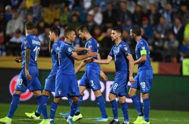 nazionale italiana dopo un goal