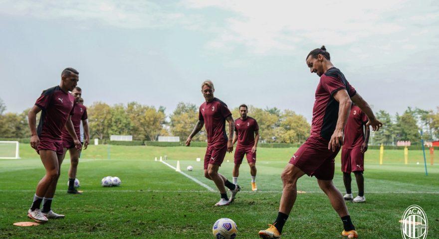 Milan in allenamento